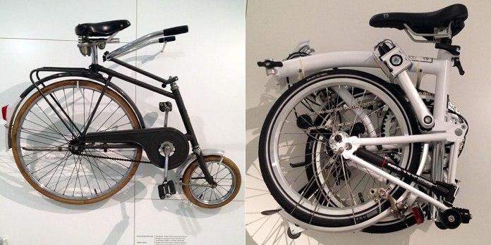 Noch so ein Thema: Klappräder und Versuche, Räder möglichst kompakt zu bauen – das linke möchte ich aber nicht wirklich fahren müssen.