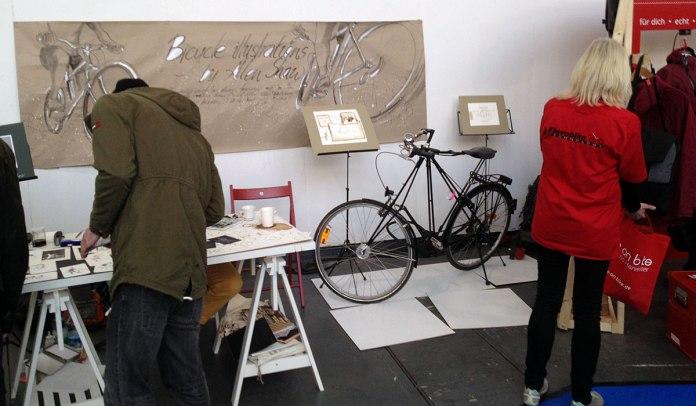 12.23 Uhr – Auch auf der Velo frönt man ein wenig dem Lifestyle, der sich um das Radfahren entwickelt hat und immer weiter entwickelt.